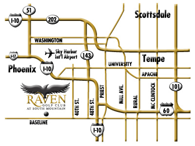 The Raven Golf Club map